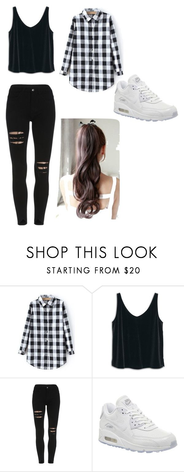 """look para escola !"" by tigresablack on Polyvore featuring MANGO, NIKE, women's clothing, women, female, woman, misses and juniors"