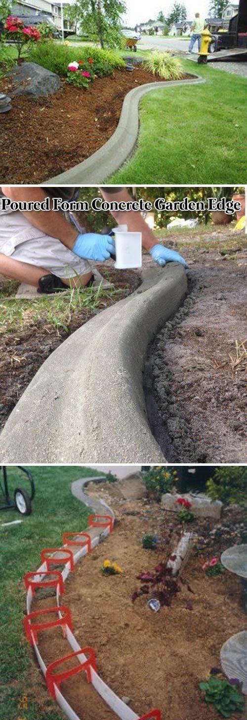 Concrete Patio Edge Ideas: The 25+ Best Concrete Garden Edging Ideas On Pinterest