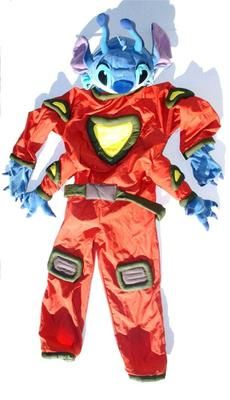 Stitch Halloween Costume Youth Medium Disney Store Alien Encounter Jumpsuit