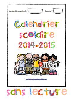 Calendrier scolaire 2014-2015
