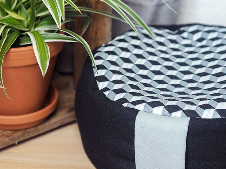 DIY-Anleitung: Yoga-Kissen mit Fabric Weaving nähen via DaWanda.com