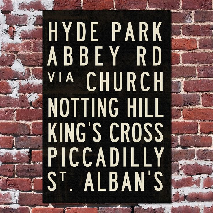 London Subway Sign Print Typography City Poster