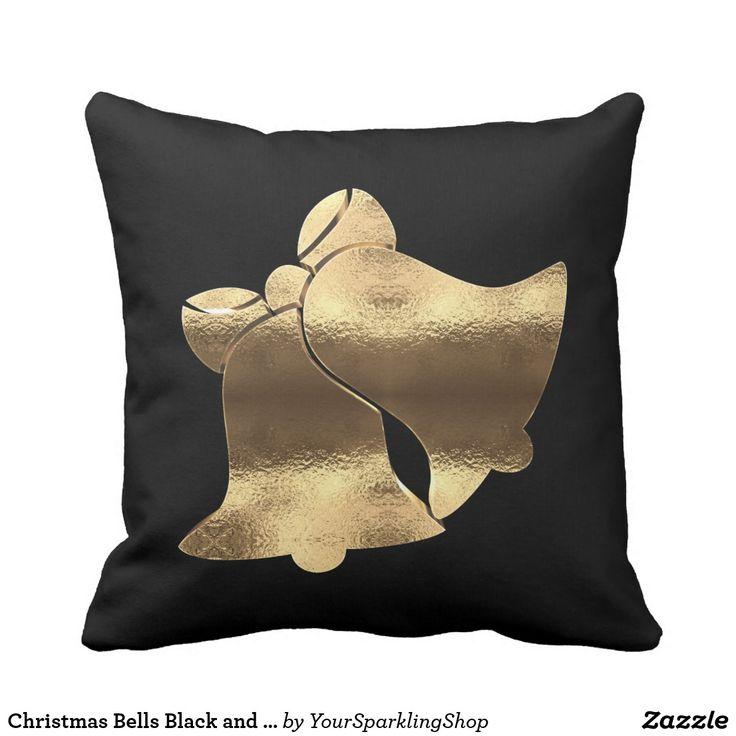 Christmas Bells Black and Gold Festive Elegant