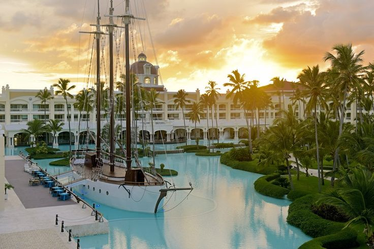 "A Pirate's Life The pool at the five-star Iberostar Grand Bávaro in the mythical Bávaro de Punta Cana Beach features a full-scale replica of a schooner ""docked"" in the pool. Come nighttime, the ship transforms into a bar where you can select from 15 Caribbean rums and 12-year-old scotch  Best Hotel Pool Experiences 