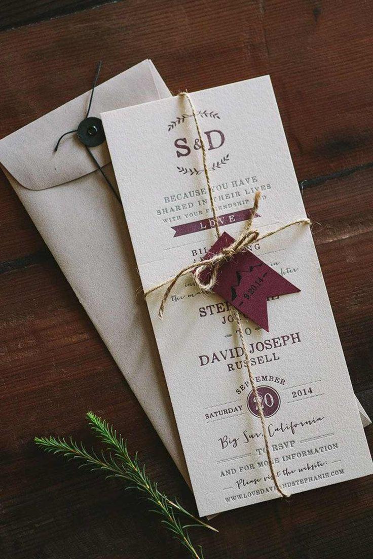DIY Wedding Invitations: 10 Unusual