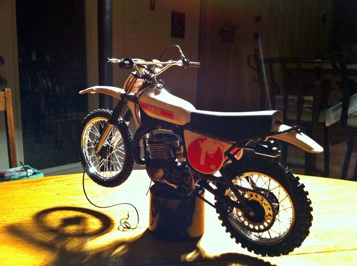 Tamiya plastic model of 1973 yamaha 250 works bike built for Yamaha dirt bike plastics
