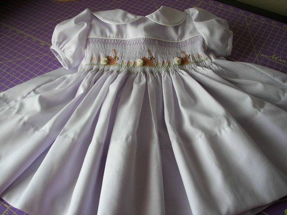 Lavender Easter Dress Smocked Chocolate by reetmomma on Etsy