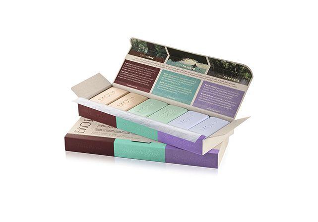 Presente Natura Ekos Sabonetes dos Biomas Amazônicos : 6x50g :Madeira Confortável| Floral Envolvente| Frutal Refrescante.