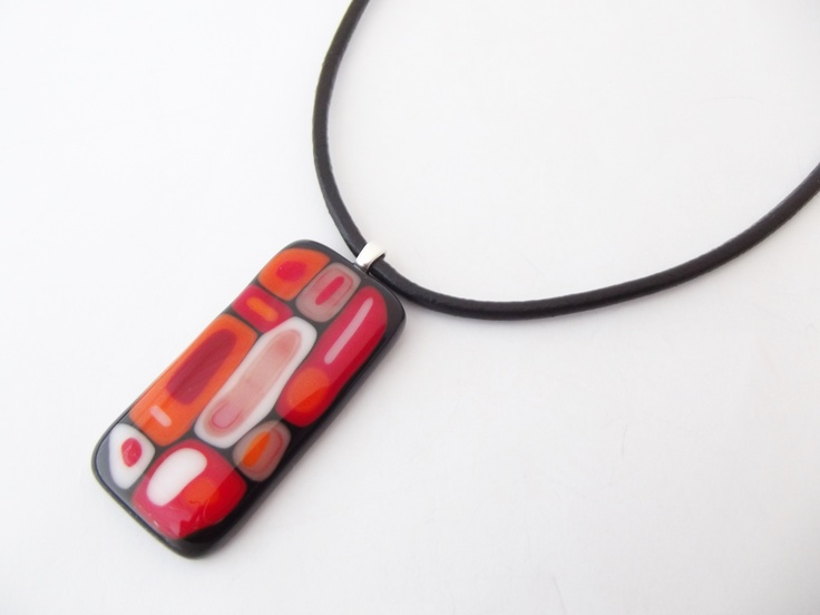 Bauhaus glass pendant by Angelene at www.lustregallery.co.nz