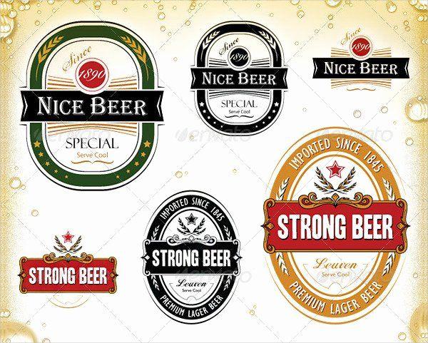 Beautiful Beer Label Design Template In 2020 Beer Label Design Beer Label Design Template Label Template Word