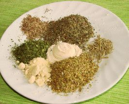 Italian Seasoning - Stephen does a blend of this recipe and the other italian seasoning recipe on this board, and it's really good.
