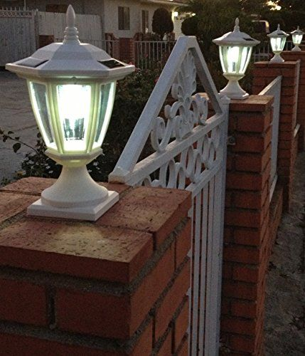 2pk premium solar hexagon light w wall mount finish white led color