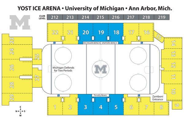 Yost Ice Arena Seating Chart Michigan Ice Hockey
