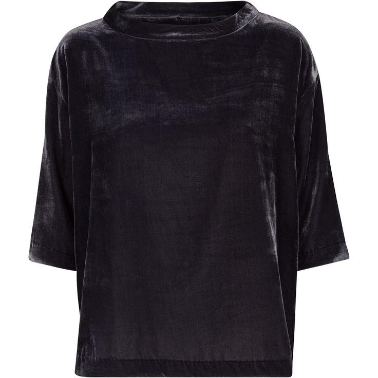 Ikka velvet top soft velvet top black swan fashion