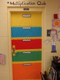 Coaching Chronicles: Our Third Grade Classroom ... Students sign the door as they master their multiplication facts