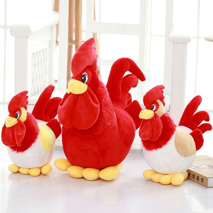 2017 Курица Петух моделирование куклы плюшевые игрушки эфирные подарки компании(China (Mainland))