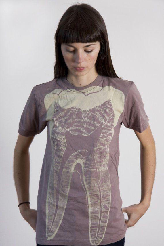 SALE Tooth T-shirt Ash (S, M, L, XL). $20.00, via Etsy.
