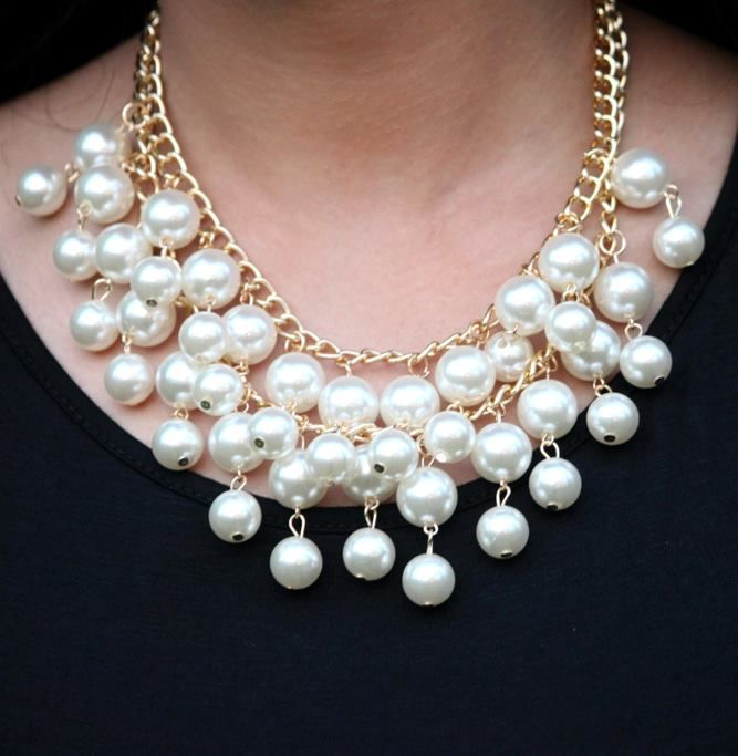 Shop on: http://www.lolascloset.in/accessories/femme-forever-pearl-cluster-necklace/p-7367768-98077231219-cat.html#variant_id=7367768-98077231219