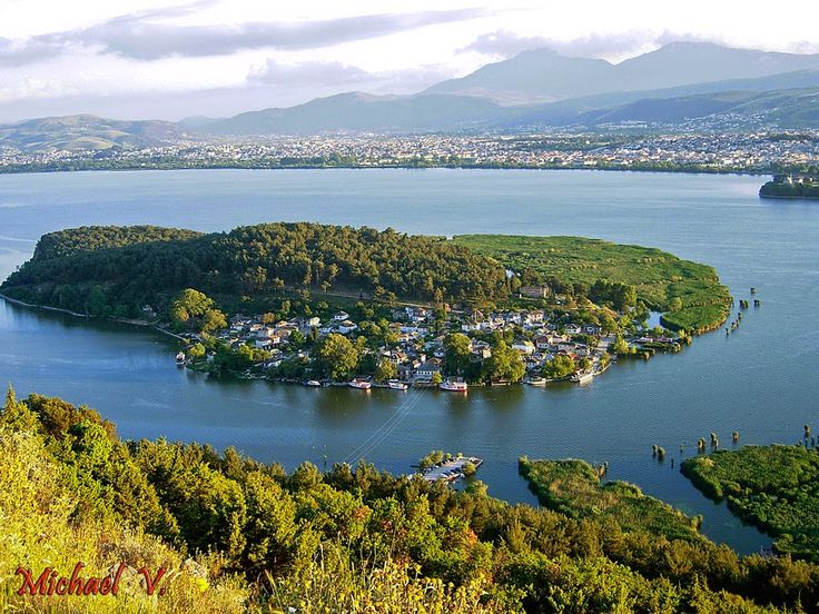 The traditional tiny island in Ioannina's lake Pamvotis