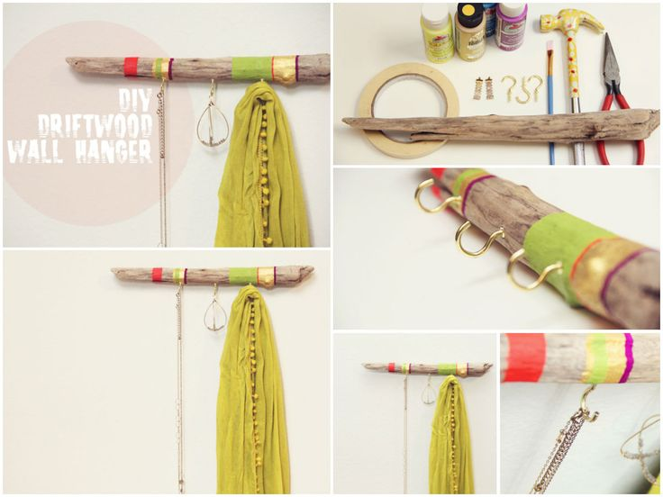 DIY: Driftwood hanger #DIY, #Driftwood, #Hanger