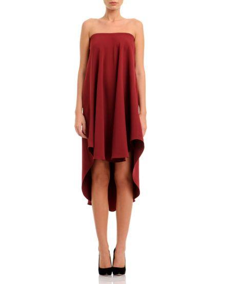 Silk-Crepe Bordeaux Dress #SilkCrepe #Bordeaux #Dress