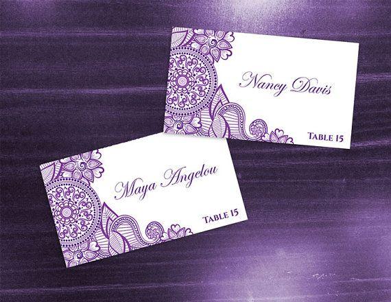 25 best printable wedding place cards ideas on pinterest