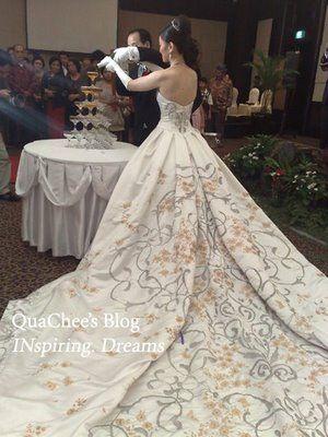 Indonesian batik Wedding Dress