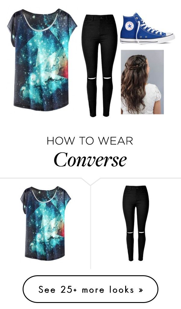 """Tag in Description"" by youre-555-im-666 on Polyvore featuring moda ve Converse"