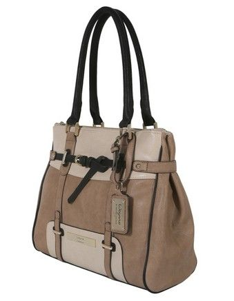 Wayne by Wayne Cooper - 'Louise' Tote Bag in Taupe Multi.  Main compartment and two zipped full length pockets to keep the ipad and magazines separate and a zipped section on the back for the car keys.