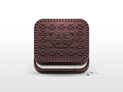 Oreo App Icon by Julian Burford. 18 Mouthwatering Food #App #Icons