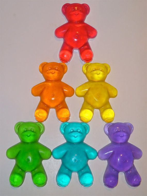 JUMBO GUMMI BEAR Scented Glycerin Kids Soap Party by angelscandles, $12.00