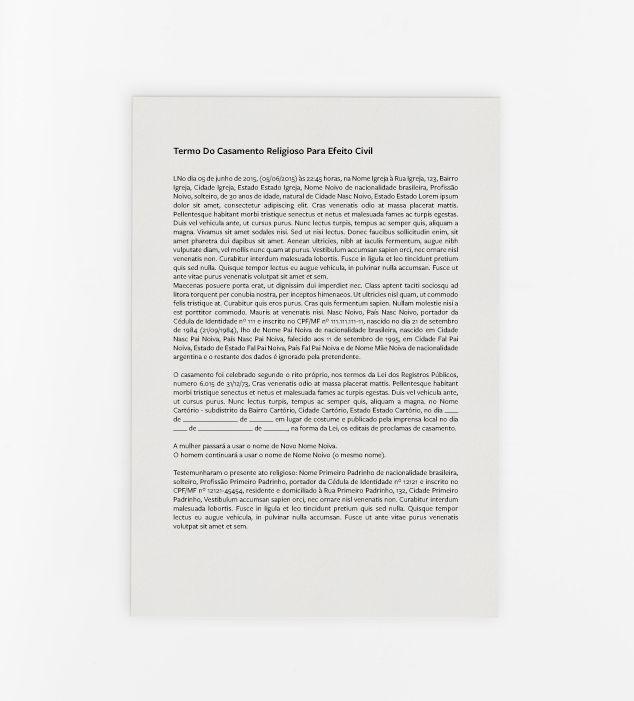 Termo do Casamento Religioso para Efeito Civil - Casamento Civil