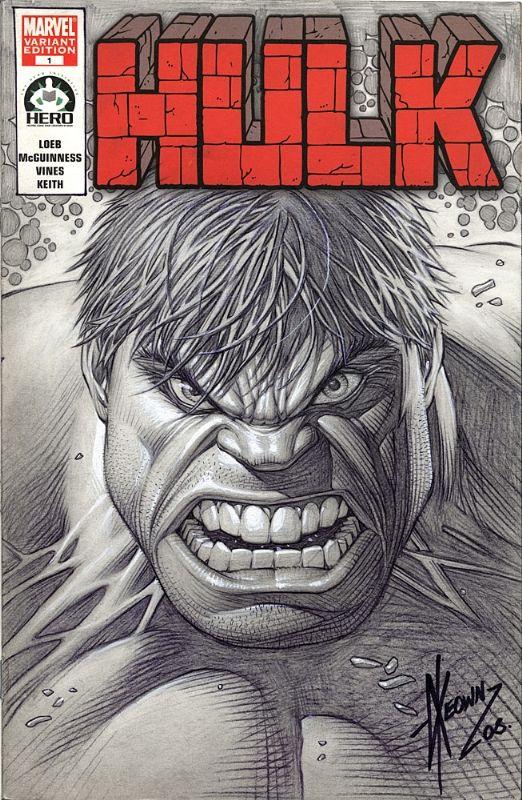 Dale Keown - Hero Initiative Hulk #1 Cover Comic Art
