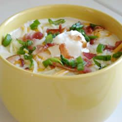 Baked Potato Soup Recipe - made it tonight... tasty and easy, we
