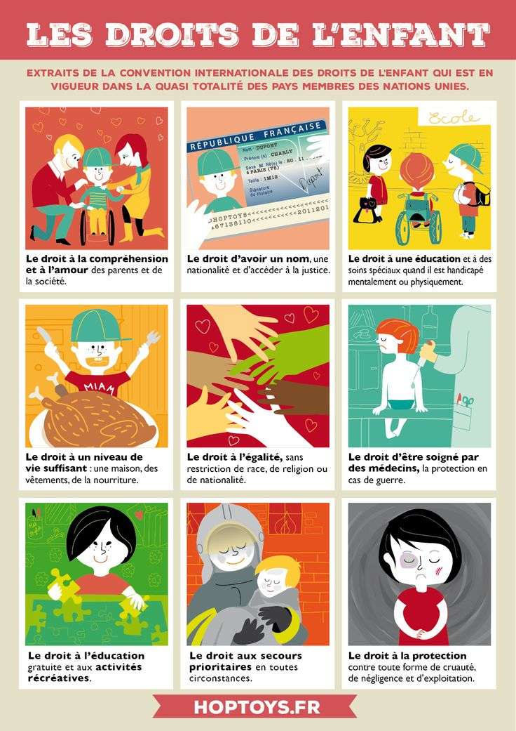 A l'occasion de la Journée Internationale des droits de l'enfant, nous vous proposons une affiche illustrant des extraits de la Convention.