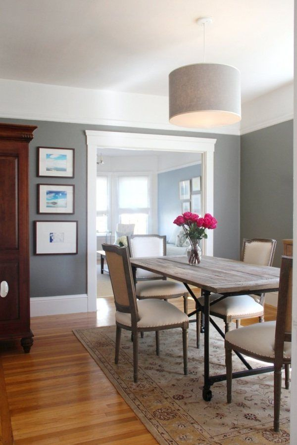 Beau Benjamin Moore Chelsea Gray In A Dining Room With White Cove Ceilings. Best  Dark Gray