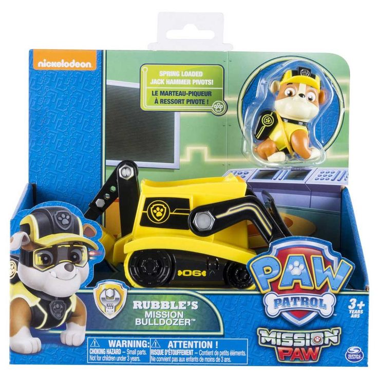 Paw Patrol Mission Paw Rubble's Mission Bulldozer-Toy Universe