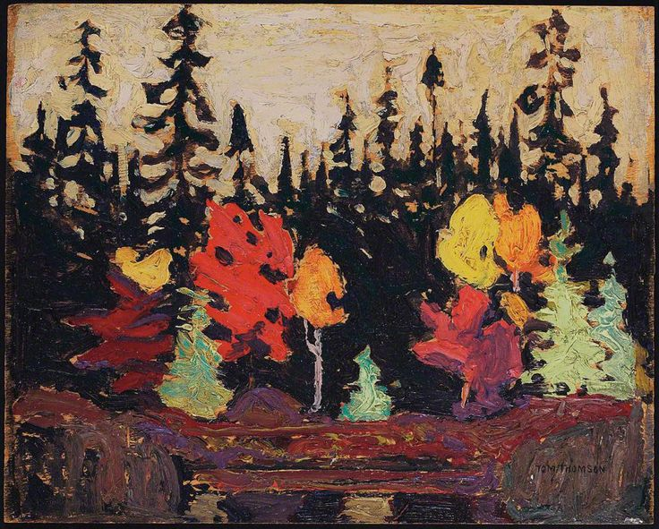 Tom Thomson, Black Spruce and Maple, 1915 - Art Gallery of Ontario | West Wind