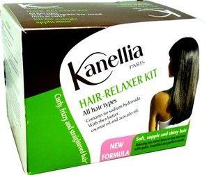 KANELLIA KIT DEFRISANT - Ce kit contient 1 crème sans soude, 1 lotion activatrice, 1 shampooing neutralisant avec indicateur coloré et 1 baume hydratant pour un soin défrisant de tous les types des cheveux même les plus fragiles.