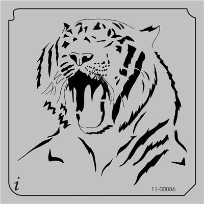 11-00086 - Animals Stencils - Lions, Tigers and Large Cats Stencils