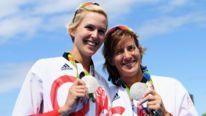 Katherine Grainger (R) and Vicky Thornley