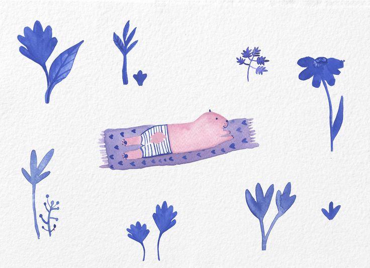 Jelena Matriszenka #watercolor #watercolorillustration #illustration #watercolorart #art #akwarele #creature #cute #botanical #nature