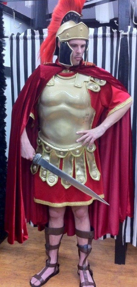 Roman Centurion Costume, Roman Centurion Helmet, Red Plumed Roman Centurian Helmet & Costume, Roman Costumes Dallas