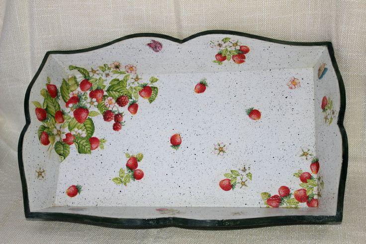 """Tablett  """"Beeren"""" von Exklusive Geschenke. auf DaWanda.com"""