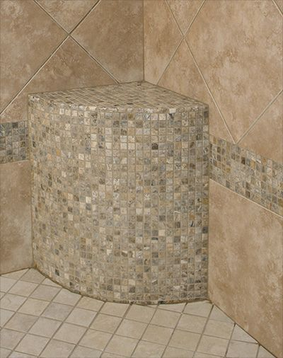 Leg lift to shave legs in shower Ken Caryl Valley master bathroom remodeling contractor:
