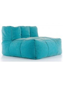 MAAK 100x100 in tessuto jeans sfoderabile elemento 1 posto per divano componibile