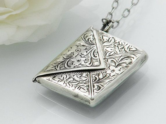 1902 Antique Sterling Silver Locket / Edwardian by ClosetGothic ...pinned by ♥ wootandhammy.com, thoughtful jewelry.