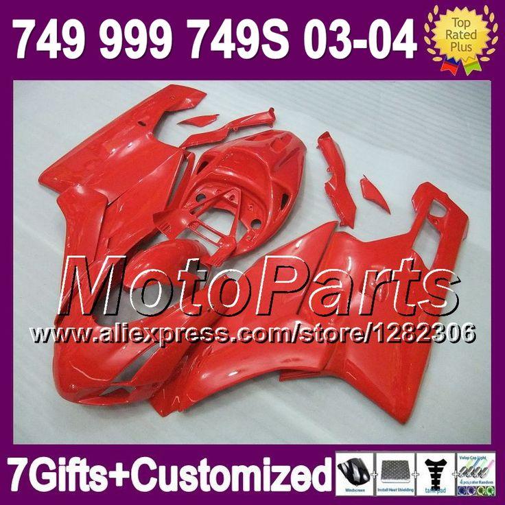 7 подарки + для DUCATI 749 - 999 03 - 04 749 999 все красный 6 * 7 749 S 999 S 749R 999R 749 03 04 2003 2004 все глянцевый красный 2003 - 2004 зализа