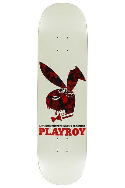 Andy Roy Playroy White skateboard deck by Anti-Hero.