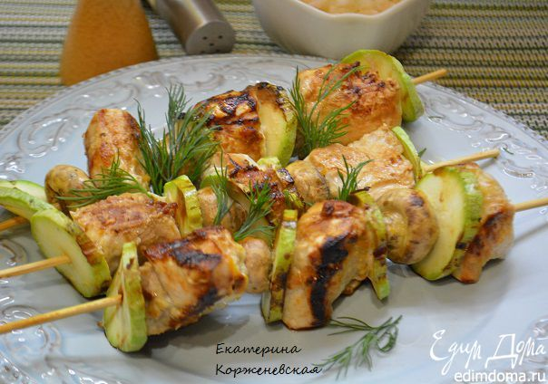 Куриные шашлычки в имбирно-цитрусовом маринаде Мясо получается сочным и ароматным, приятного вам аппетита! #едимдома #готовимдома #домашняяеда #рецепты #кулинария #шашлык